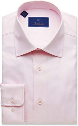 Regular Fit Micro Basketweave Dress Shirt