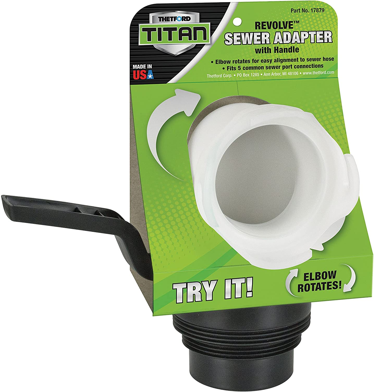 Thetford Titan Revolve Universal RV Sewer Hose Adapter