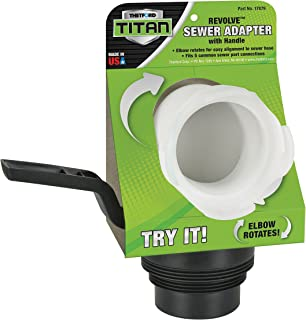 Thetford Titan Revolve-Universal RV Sewer Hose Adapter with Handle for Dump Stations 17879