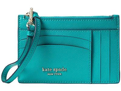 Kate Spade New York Spencer Card Holder Wristlet (Fiji Green) Wallet