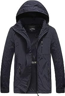 Pinkpum Men's Hooded Lightweight Windbreaker Jacket Softshell
