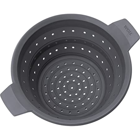 """Woll Concept Plus Multi-Function Collapsible Silicone Steamer & Colander Insert, 11"""", Gray"""