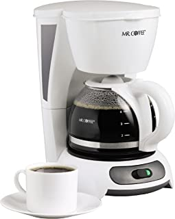 Mr. Coffee 4-Cup Switch Coffee Maker, White - TF4-RB (Renewed)