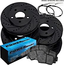 Fit 2007-2011 BMW 328i,323i,325i Black Full Kit Brake Rotors+Ceramic Pads