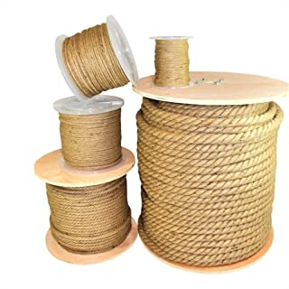 SGT KNOTS Twisted Hemp Rope - All Natural, 3-Strand Rope for Crafting, Gardening, Bailing, Packing, Survival, Home Decor (...