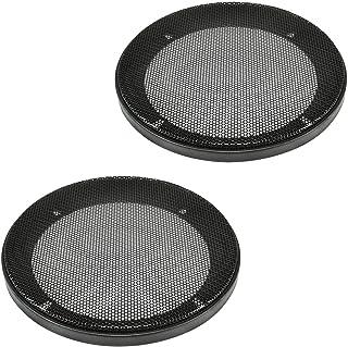 tomzz Audio 2800 001 Lautsprecher Gitter Grill für 130mm DIN Lautsprecher, schwarz, 2 teilig Kunststoffring mit Metallgitter, Satz