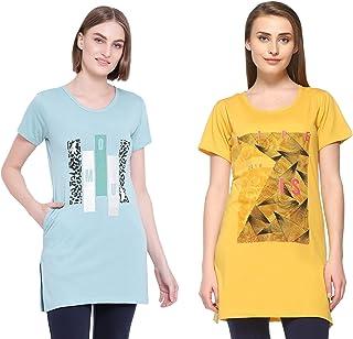 IN Love Women's Longline T-shirt(Pack of 2)