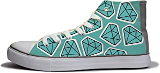 Rivir Latest & Stylish Printed Canvas High Top Sneakers Shoes for Mens & Womens