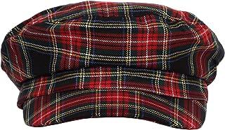 WITHMOONS Peaky Blinders Style Baker Boy Newsboy Hat 8 Panel Pinstripe HM31178
