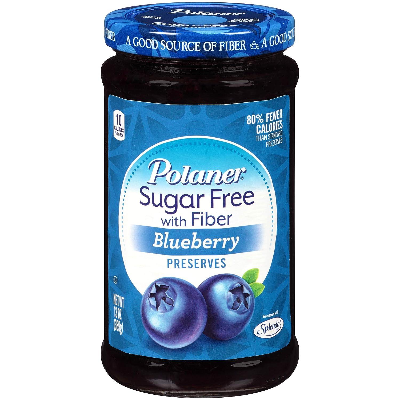 Polaner depot Sugar Free with Fiber Blueberry Preserves 13 Ounce online shopping