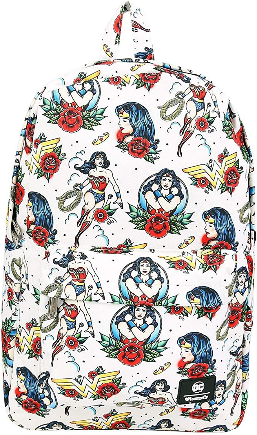 Loungefly x Wonder Woman Tattoo-Rucksack aus Nylon, wei (Wei) - LOUDCCBK0016