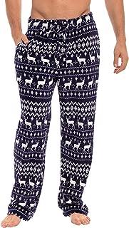 Men's Warm Fleece Pajama Pants, Long Lounge Bottoms