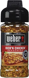 WEBER Grilling Seasoning KICK'N CHICKEN 2.5 oz (Pack of 2)