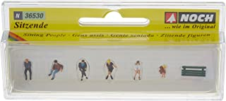 Noch 36530 Sitting People & 1 Bench N Scale  Figures
