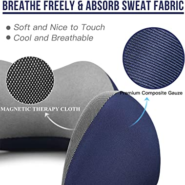 MLVOC Travel Pillow 100% Pure Memory Foam Neck Pillow, Comfortable & Breathable Cover, Machine Washable, Airplane Travel
