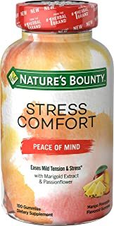 Nature's Bounty Nature's bounty Stress Comfort Peace of Mind 100 Gummies, 100 Count