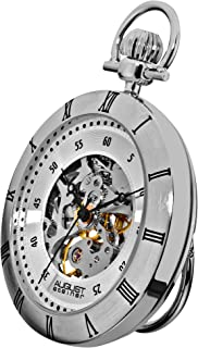 August Steiner AS8017SS Stainless Steel Automatic Mens Pocket Watch