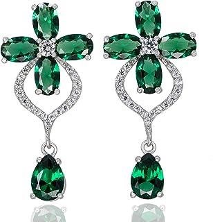chimoda Earrings for Women, Solid 925 Sterling Silver, Cubic Zirconia Stone, Women's Jewelry, Drop Dangle