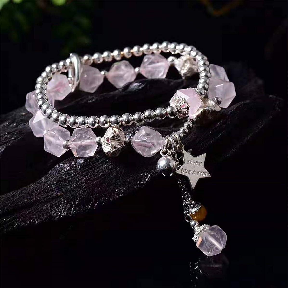 直接首嫌悪【reikojeweiry】天然 银ローズクォーツは愛と美を象徴する石です