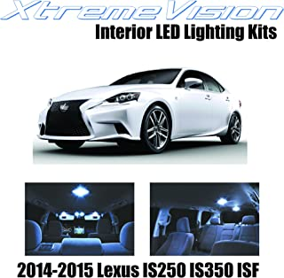 XtremeVision Interior LED for Lexus IS250 IS350 ISF 2014-2015 (11 Pieces) Cool White Interior LED Kit + Installation Tool