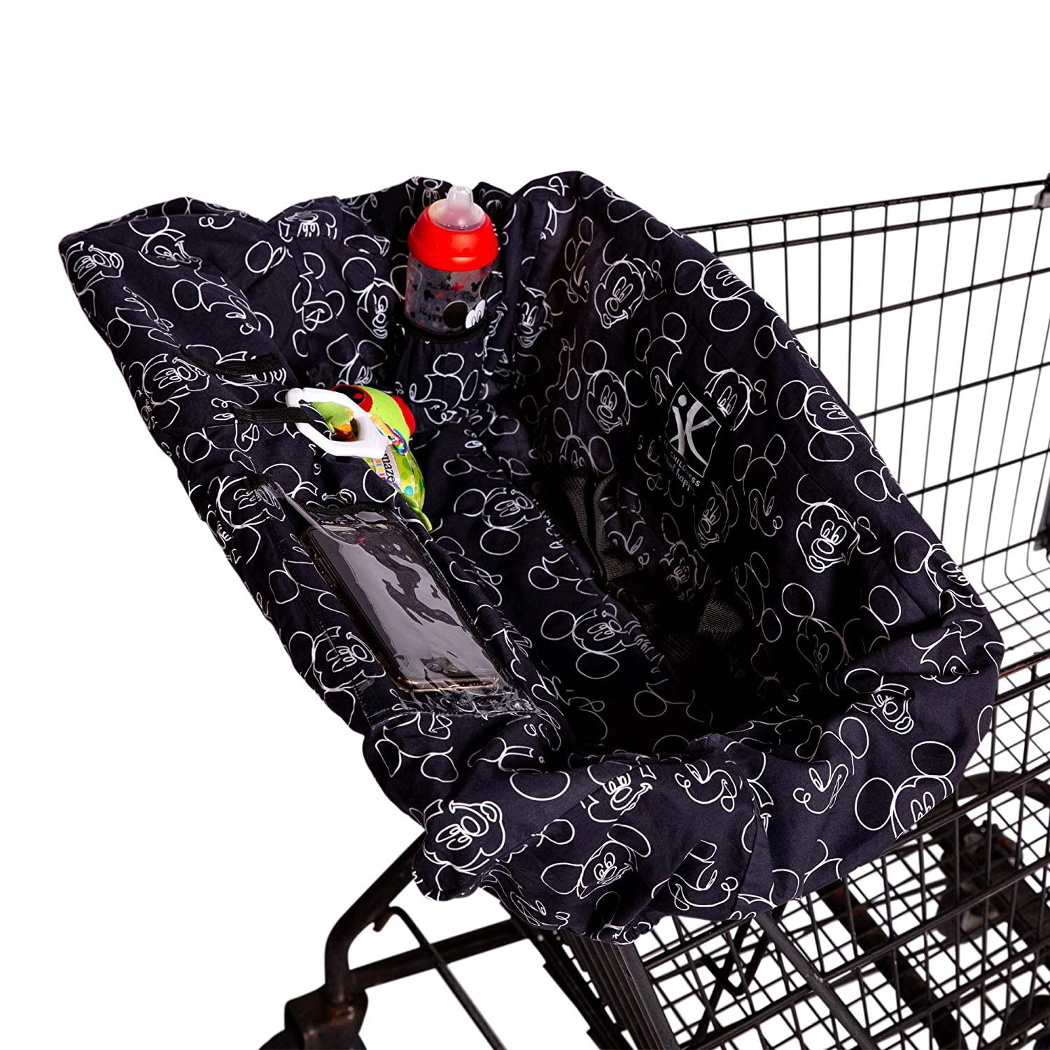 Disney Baby by J.L. Childress Shopping Cart & High Chair Cover for Baby to Toddler, Mickey Black