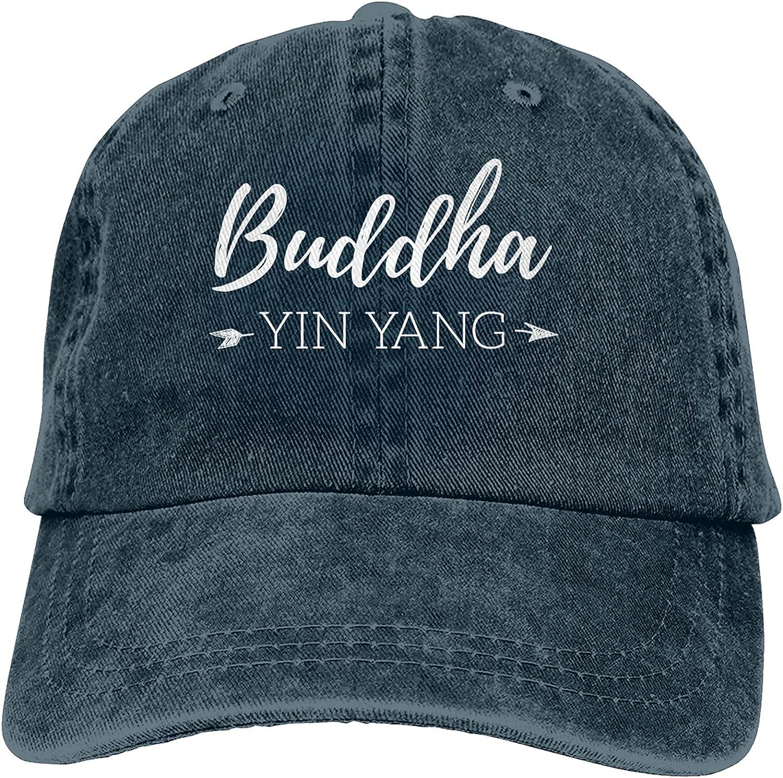 Buddha Yin Yang Baseball Cap Trucker Hat Retro Cowboy Dad Hat Classic Adjustable Sports Cap for Men&Women Navy