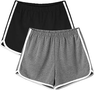 Motarto 2 Pieces Soft Sports Waistband Shorts Women Indoor Yoga Athletic Shorts