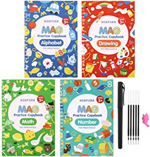 Magic Practice Copybook for Kids - Calligraphy Workbook Set That Can Be Reused,Reusable Tracing Workbook for Preschoolers ...