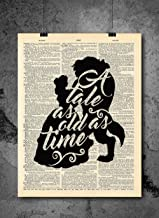 BEAUTY AND THE BEAST PRINT 02A Canvas or Poster Choose Size /& Media Type