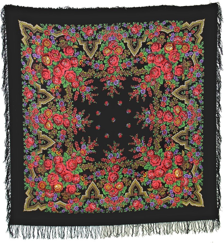 Huge Russian Woolen Shawl (wool fringe) Russian Beauty (32518)