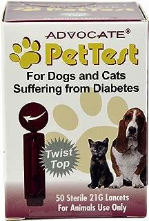 Advocate Pet Test Twist Top Lancets for Dogs/Cats, 21g PT-130