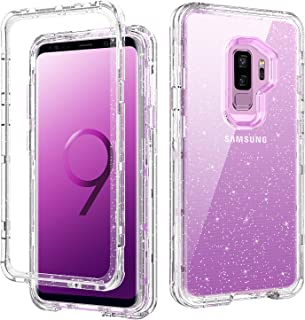 DOMAVER Galaxy S9 Plus Case, Samsung S9 Plus Case Clear Glitter Bling Shiny Sparkly Sparkle Cover for Girls Women 3 in 1 H...