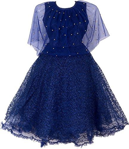 Net Maxi Dress PONCHU 1 Navy Blue 3 4 Years