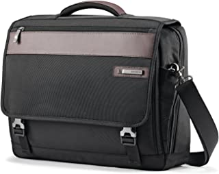 Samsonite Kombi Flapover Briefcase, Black/Brown, One Size