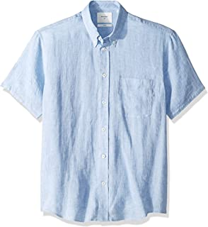 Billy Reid Men's Standard Fit Short Sleeve Button Down Tuscumbia Shirt