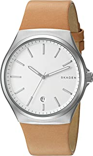 Skagen Womens Quartz Watch, Analog Display and Leather Strap SKW6261