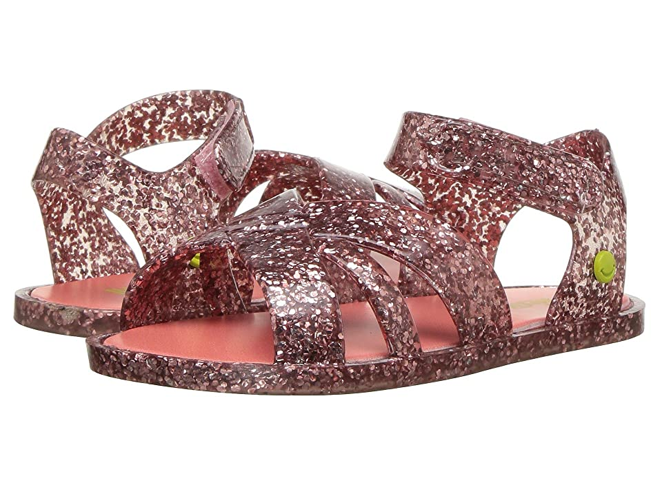 Western Chief Kids Sandbox Sandal (Toddler/Little Kid) (Rose Gold Glitter) Girls Shoes