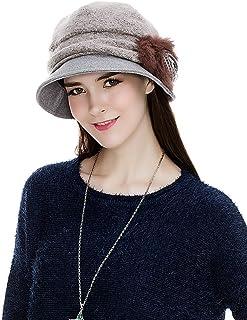 b9212808c0a29b SIGGI Cloche Round Hat for Women 1920s Fedora Bucket Vintage Hat Flower  Accent