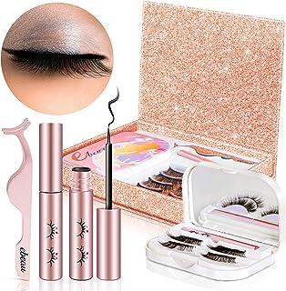 Magnetic Eyelashes with Eyeliner ebeau Natural Look Magnetic Eyeliner for Lashes Set with 6 Pair Reusable Magnetic Fake La...
