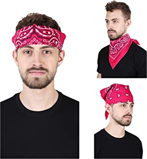 GIRRIJA Men's Cotton Bandanas (Multicolours, Free Size) - Pack of 3 Pieces