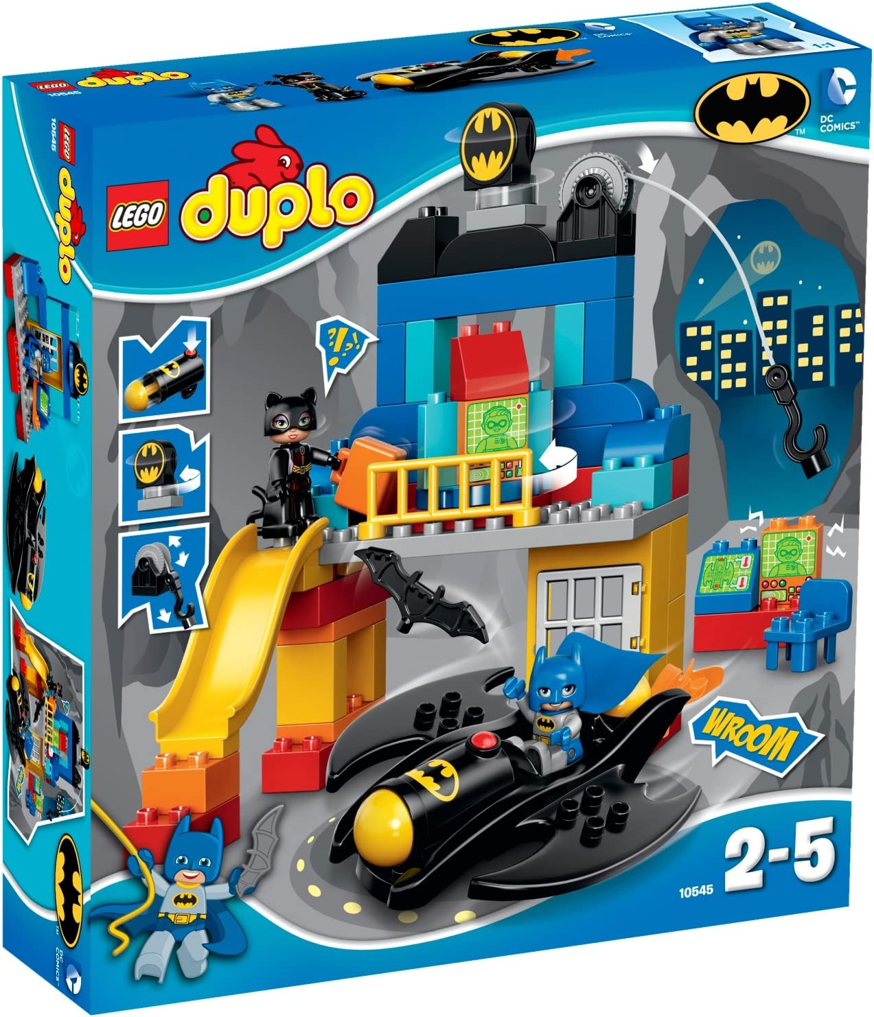 LEGO DUPLO Super Heroes 10545 Adventure Buildin Batcave Large discharge sale Piece 59 Finally resale start