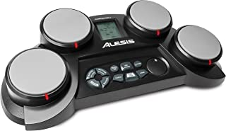 Alesis Compact Kit 4 – Tabletop Electric Drum Set with 70 Electronic / Acoustic Drum Kit Sounds, 4 Pads, Battery- or AC-Po...