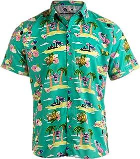 31bf55aa4 Workout Flamingos | Funny Lifting Hawaiian Button Down Polo Party Lift Shirt  Men
