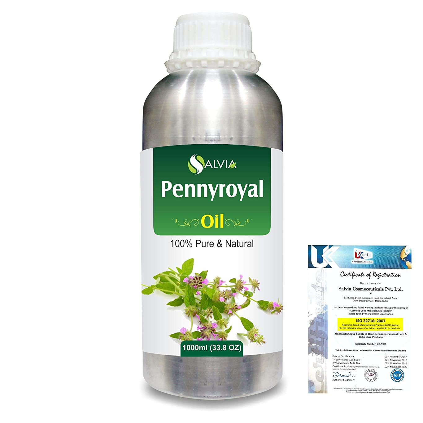 大学院バイオレット落ち込んでいるPennyroyal (Mentha pulegium) 100% Natural Pure Essential Oil 1000ml/33.8fl.oz.