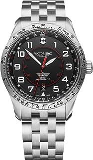 Victorinox Men's Swiss Quartz Watch with Stainless Steel Strap, Black, 21 (Model: 241888)