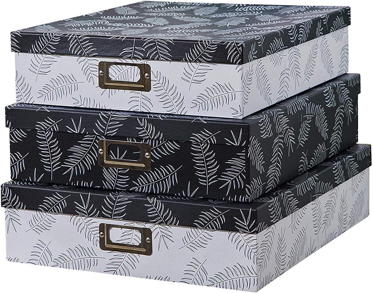 Blue Koop Cardboard Large 45L Storage Boxes With Lids Christmas Storage Box Baubles Design