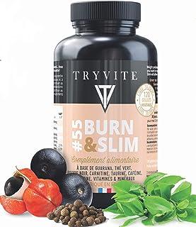 TRYVITE : bruleur de graisse puissant | coupe faim puissant et efficace | Thé vert | Carnitine | Guarana | Nopal | Caféine...