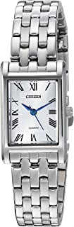 Citizen Women's Rectangular MOP Stainless Steel Watch