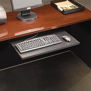 sauder desk with keyboard tray