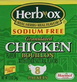 Herb-Ox Bouillon Chicken Instant Broth and Seasoning, 1.2 oz, 8 Packets (Pack of 2)